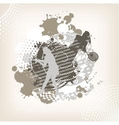 swirl tennis background vector image