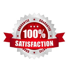 100 prozent satisfaction button vector