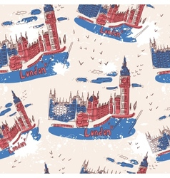 Big ben and house of parliament london uk vector