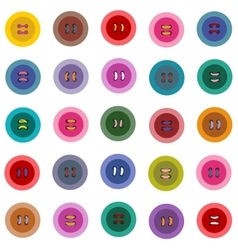 Colorful Buttons Seamless Pattern vector image