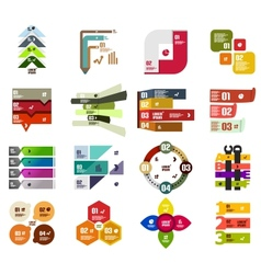 Set of modern infographic design templates vector image