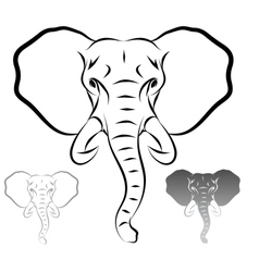 Stylized elephant head vector