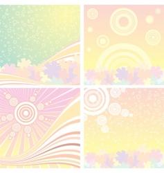Retro background set vector