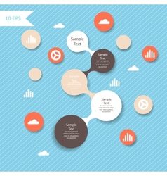 Colorful metaball round diagram infographics vector