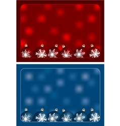Red and blue christmas greetings vector