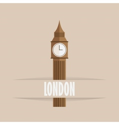 Big ben icon vector