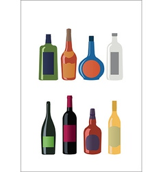 Bottles set vector