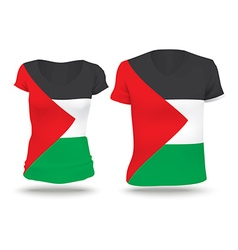 Flag shirt design of west bank vector