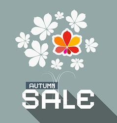 Autumn sale flat design with chestnut tree l vector