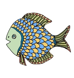 Zentangle fish vector