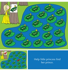 Little princess puzzle vector