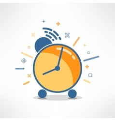 Alarm clock in modern flat design colorful vector