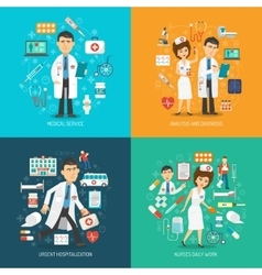 Medical care concept vector