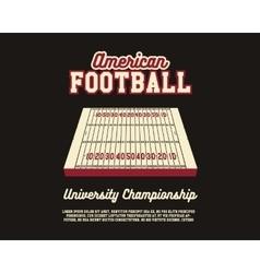 American Football university championship layout vector image