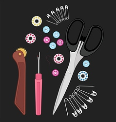 Sew tools vector