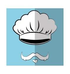 Chef cap and mustache vector