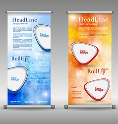 Laundry service roll up banner design vector