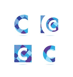 Letter c logo set vector