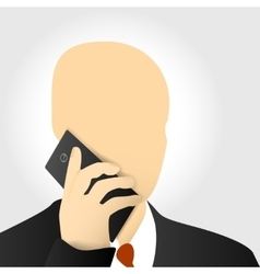 Businessmen with phone vector