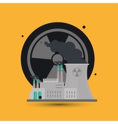 Industry design plant and biohazard concept vector