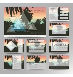 Palm tree poster and print  tropical background vector