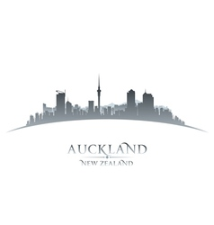 Auckland New Zealand city skyline silhouette vector image vector image