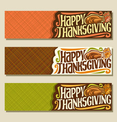 Banners for thanksgiving day vector