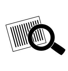 Bars code and magnifying glass vector