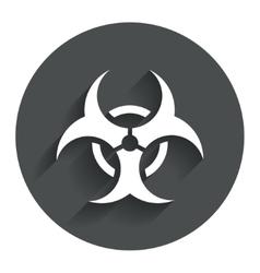 Biohazard sign icon Danger symbol vector image vector image