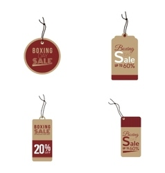 Boxing sale labels vector image
