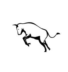 bull vector image vector image