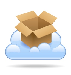 Cloud box vector