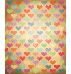 colorful hearts background vector image vector image