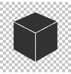 Cube sign Dark gray icon on vector image