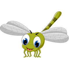 cute dragonfly cartoon vector image