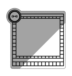 Cute frame decoration vector