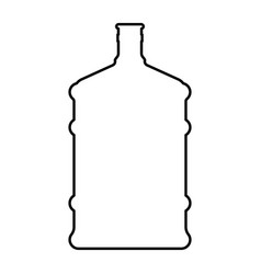 Dispenser large bottles black color icon vector