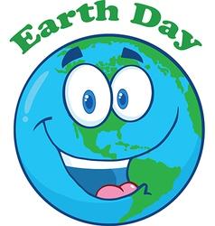 Earth cartoon design vector image vector image