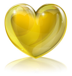 Heart of gold vector