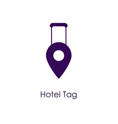 Hotel tag icon vector