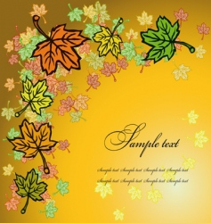 leaves greetings card vector image