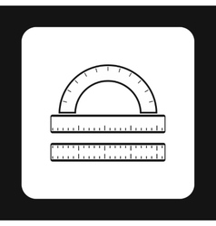 Measuring ruler icon simple style vector image