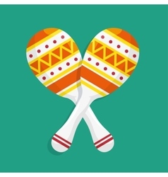 music maracas brazil icons design vector image