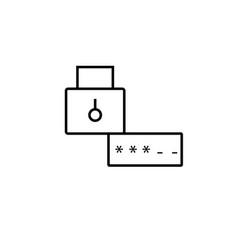 Password lock icon vector