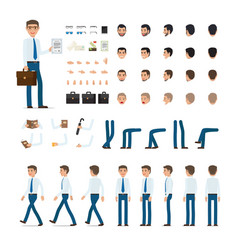 person creation set in simple cartoon design vector image vector image