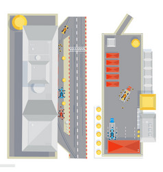 race track flat composition vector image