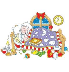 Santa Claus sleeping vector image vector image