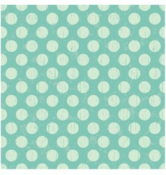 Seamless pattern pale green polka dots vector image