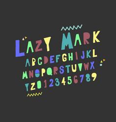 set alphabets cute colorful english alphabet vector image