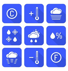 Solid white color flat style weather forecast vector